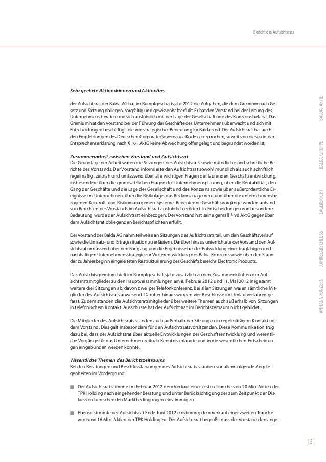 Bericht des AufsichtsratsSehr geehrte Aktionärinnen und Aktionäre,                                                        ...