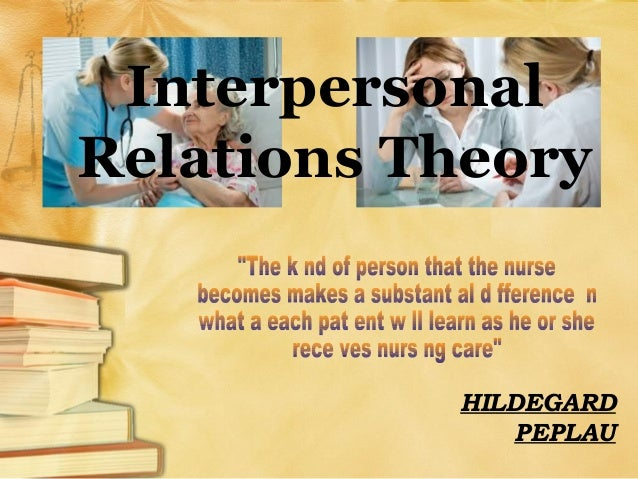 Interpersonal Relations Theory HILDEGARD PEPLAU