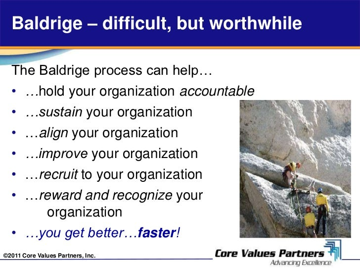 baldrige criterion Criteria can it possibly get any worse than this for baldrige more than 20 million american businesses are seriously seeking better ways to improve and become.