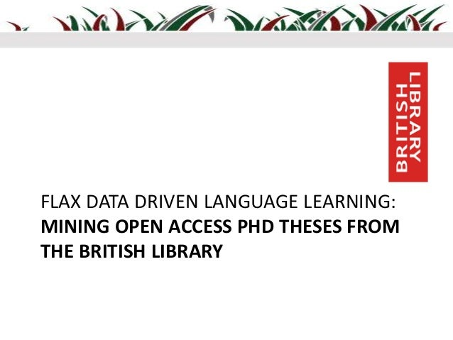 british library uk dissertations Do we need thousands of electronic theses and dissertations run by the british library and supported by most uk electronic theses and dissertations.