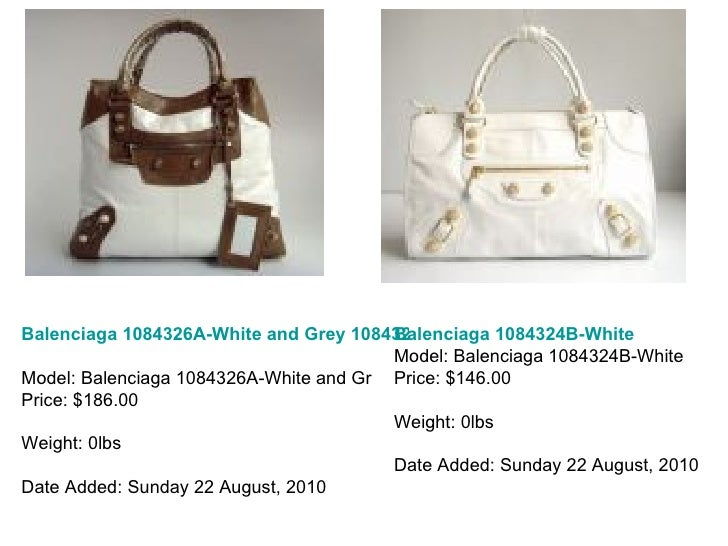 Balenciaga 1084326A-White and Grey 1084326A Model: Balenciaga 1084326A-White and Gr Price: $186.00 Weight: 0lbs Date Added...