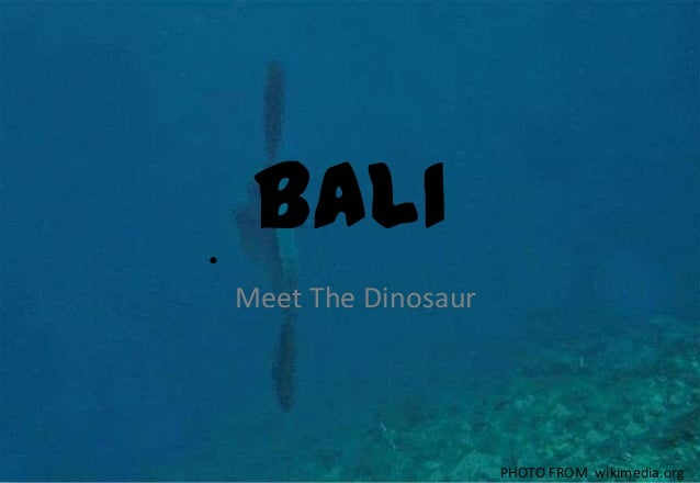 BALI• Meet The Dinosaur PHOTO FROM wikimedia.org