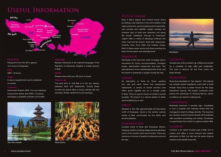 Bali Travel brochure – Sample Travel Brochure