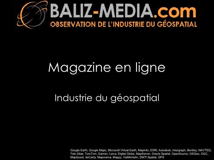 Magazine en ligne Industrie du géospatial