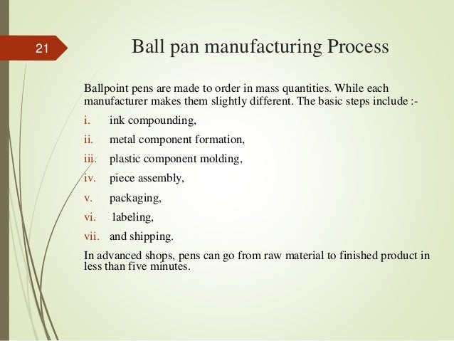 Feasibility Study on Ball Pen Manufacturing Plant