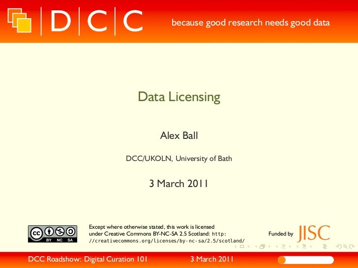 because good research needs good data                                     Data Licensing                                  ...