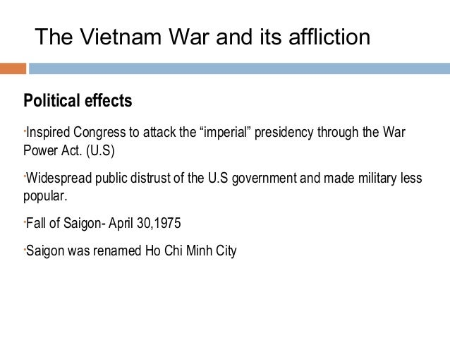 Consequences of Vietnamese Victory Against