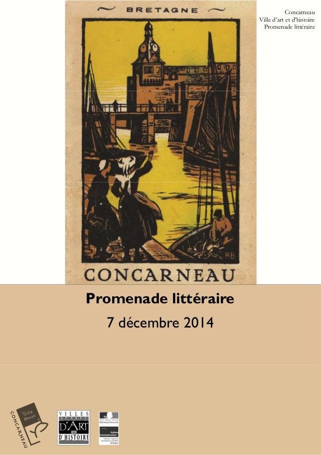 Promenade littéraire  7 décembre 2014  Concarneau  Ville d'art et d'histoire  Promenade littéraire