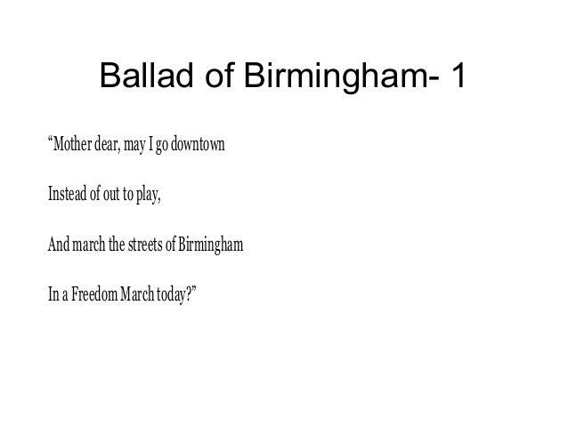 ballad of birmingham a poem commemorates