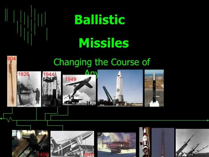 Ballistic  Missiles Changing the Course of Any War 1926 904 1409 1944 1949 1946