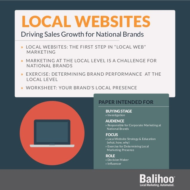 """LOCAL WEBSITES Driving Sales Growth for National Brands » LOCAL WEBSITES: THE FIRST STEP IN """"LOCAL WEB"""" MARKETING » MARKET..."""