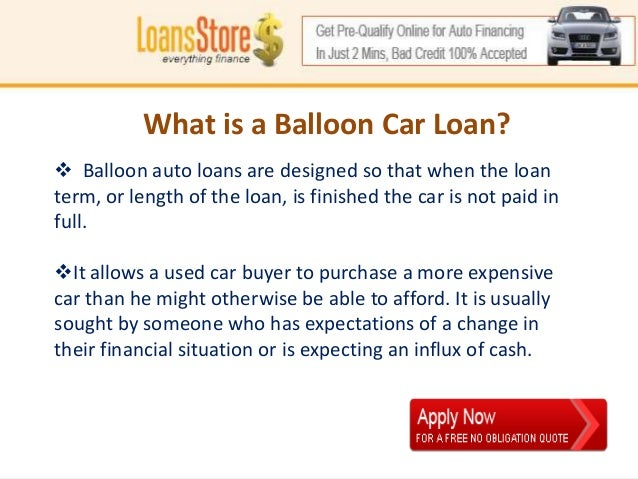 Balloon Payment Car Loan