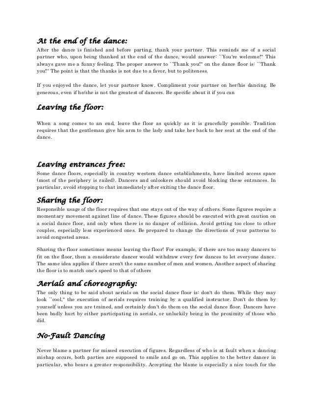 Basic ballroom etiquettes 7 solutioingenieria Choice Image