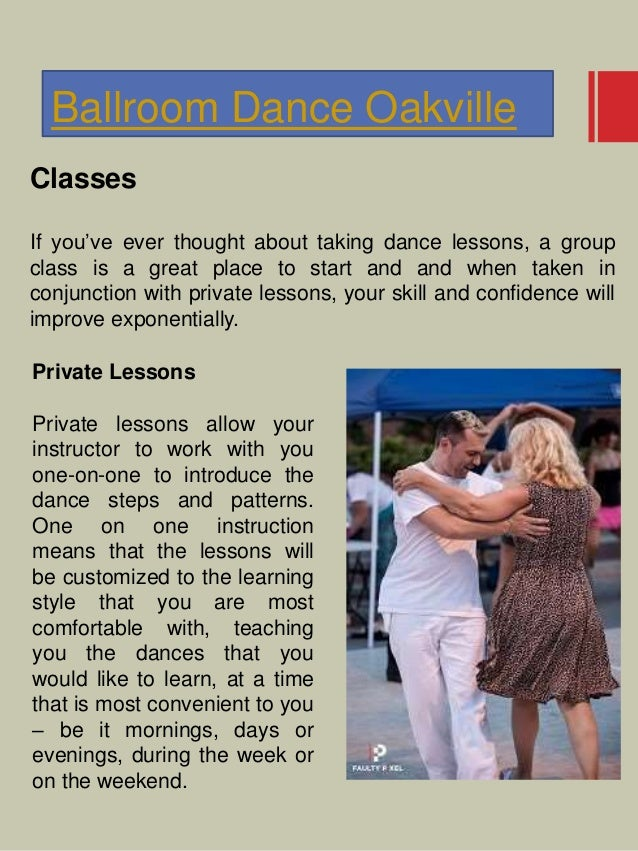 Ballroom Dance Oakville Classes If you've ever thought about taking dance lessons, a group class is a great place to start...