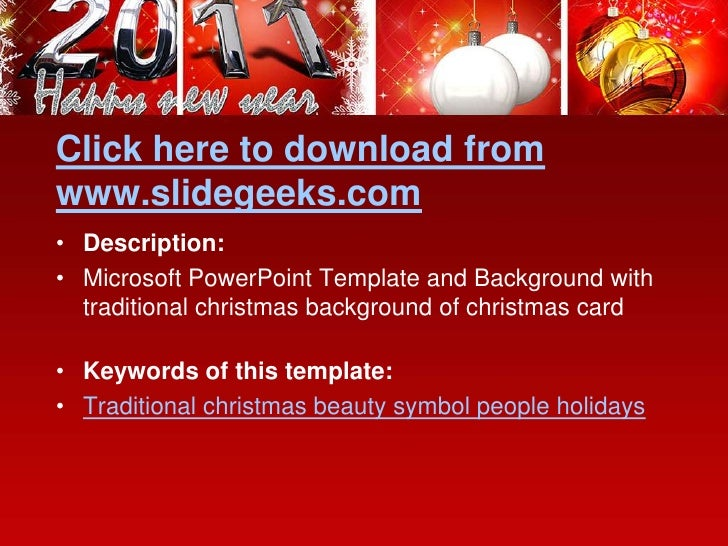 Balls Christmas Power Point Templates