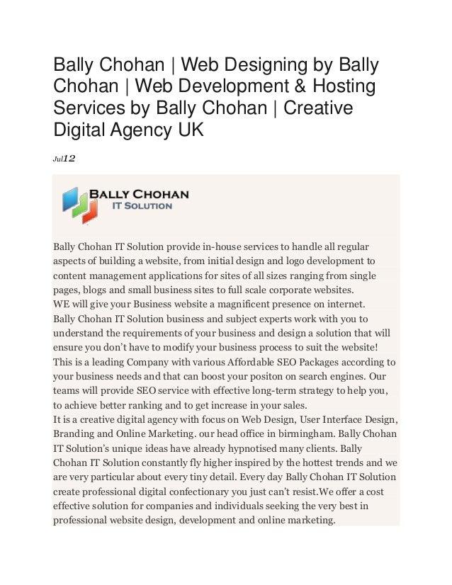 Bally Chohan | Web Designing by Bally Chohan | Web Development & Hosting Services by Bally Chohan | Creative Digital Agenc...