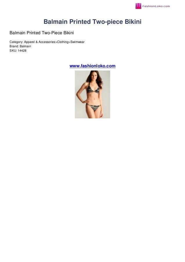 Balmain Printed Two-piece BikiniBalmain Printed Two-Piece BikiniCategory: Apparel & Accessories>Clothing>SwimwearBrand: Ba...