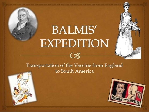 Transportation of the Vaccine from England to South America