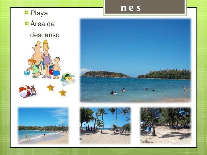 Atracciones  <ul><li>Playa </li></ul><ul><li>Área de  </li></ul><ul><li>descanso </li></ul>