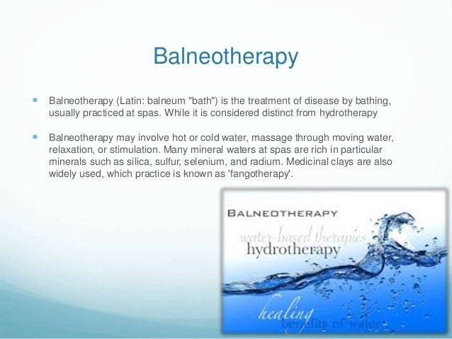 Image result for balneotherapy