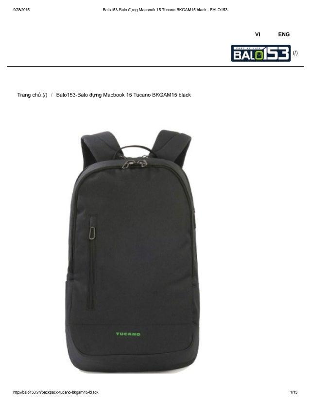 9/28/2015 BaIo153-Balo dung Macbook 15 Tucano BKGAM15 black - BALO153  VI ENG  (/ )     Trang chü (l) /  BaI0153-Balo dung...