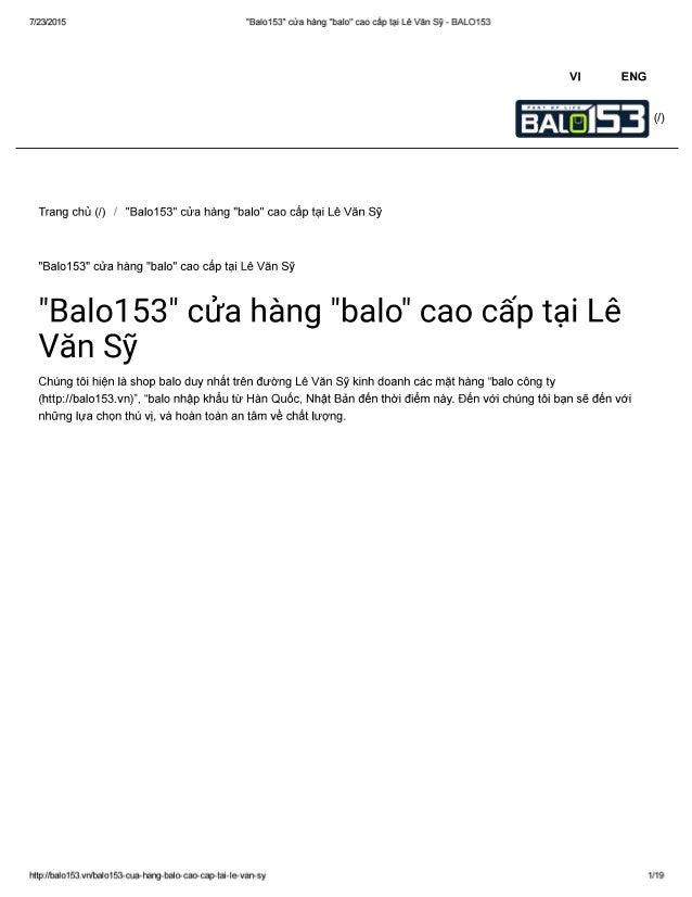 """7/23/2015 """"BaIo153"""" cửa hàng """"balo"""" cao Cắp tại Lẽ Văn Sỹ - BALO153  Vl ENG  5  BAI.  Trang chủ (/) / """"Bal0153"""" cửa hàng """"..."""