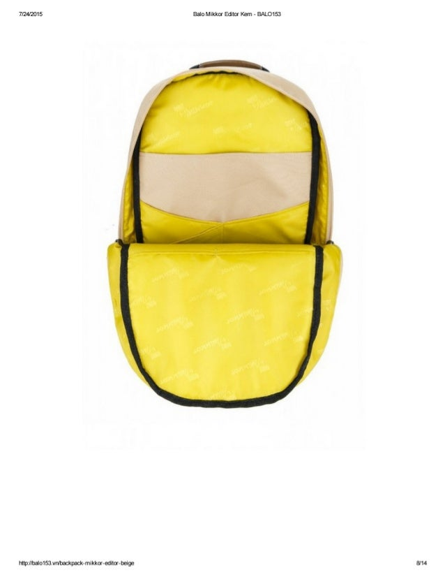 7/24/201 5  http: llbalo1Sâvn/ backpack-mikkor-editor-beige  Balo Mikkor Editor Kem - BALO153  8/14