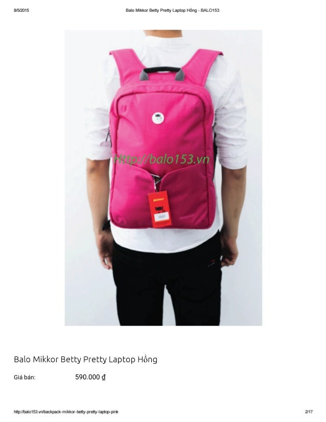 "8/5/2015 Balo Mikkor Betty Pretty Laptop Hồng - BALO153  I I L I Ị! a Jy'^-;  ơ Ĩ~lI  ll' 1 ầvĩ. Ĩì :X I  ' al""  Baio Mikk..."