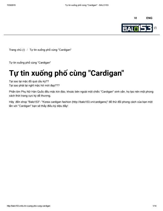 """7/23/2015 Tự tin xuống phố cùng """"Cardigan"""" - BALO153  Vl ENG  ỂẦĨĨ5 <""""›  Trang chủ (/) / Tự tin xuống phố cùng """"Cardigan"""" ..."""