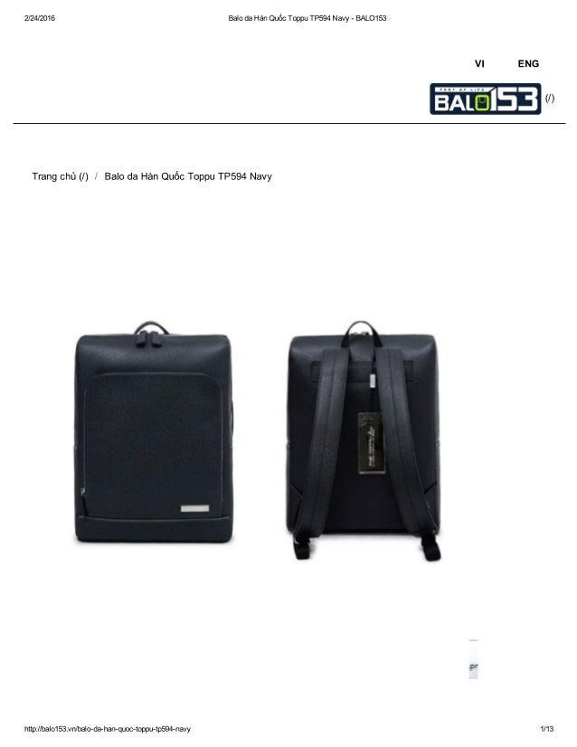 2/24/2016 Balo da Hàn Quốc Toppu TP594 Navy - BALO153     Trang chủ (/) / Balo da Hàn Quốc Toppu TP594 Navy     PF  http:/...