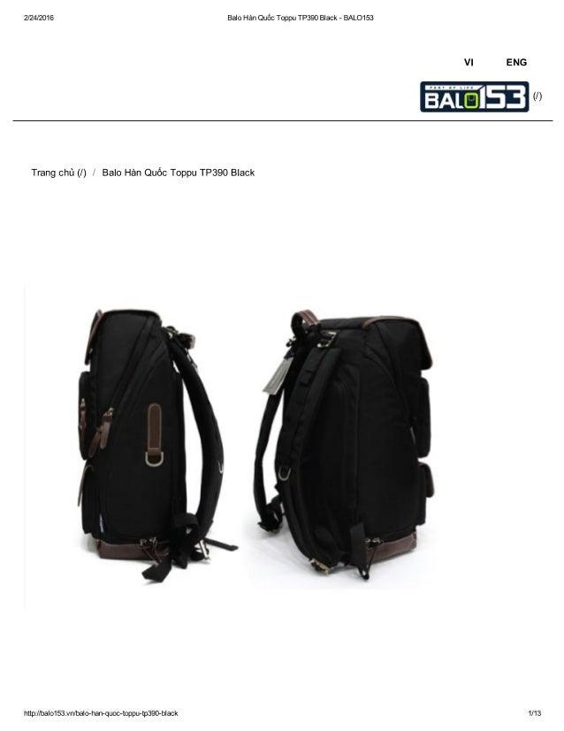 2/24/2016 Balo Han Quéc Toppu TP390 Black - BALO153     Trang chi] (I) /  Balo Han Quéc Toppu TP39O Black  http: //ba| o15...
