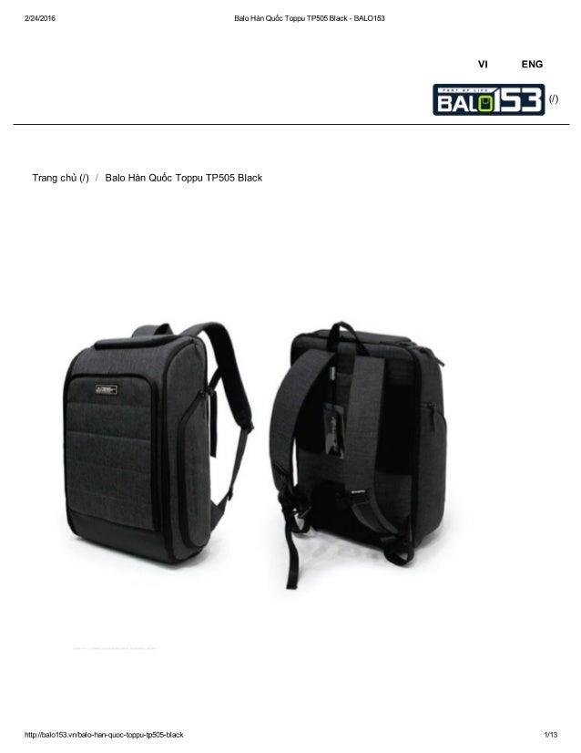 2/24/2016 Balo Hàn Quốc Toppu TP505 Black - BALO153  Vl ENG  Trang chủ (/) / Balo Hàn Quốc Toppu TP505 Black     http://ba...