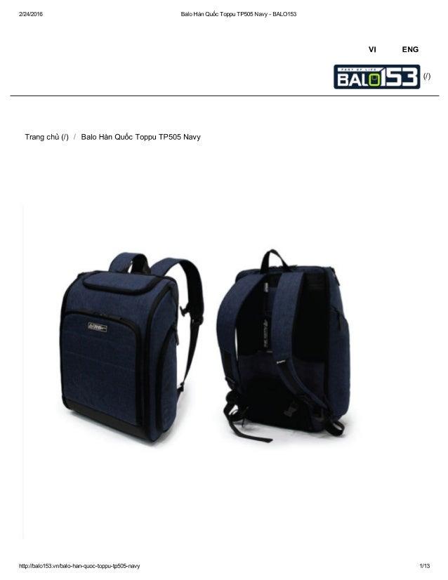 Balo Hàn Quốc Toppu TP505 Navy