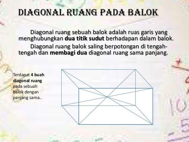 Balok virgi anggraini 8 diagonal ruang pada balokdiagonal ruang sebuah balok adalah ccuart Image collections