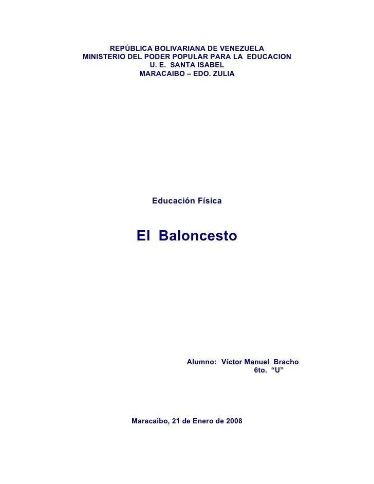 REPÚBLICA BOLIVARIANA DE VENEZUELAMINISTERIO DEL PODER POPULAR PARA LA EDUCACION                U. E. SANTA ISABEL        ...