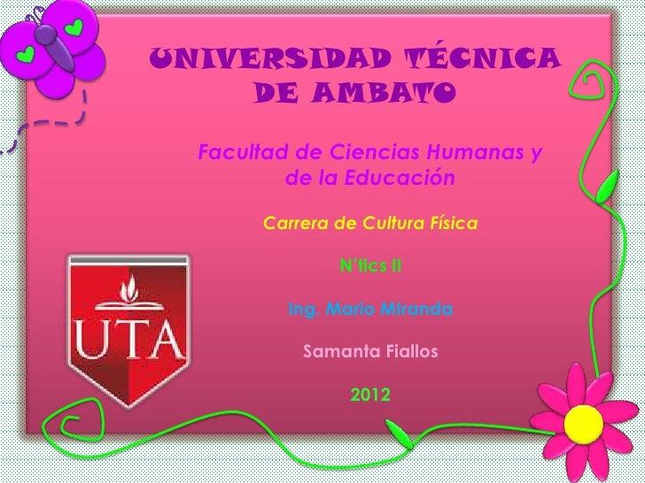 Haga clic para modificar el estilo de     UNIVERSIDAD TÉCNICA          título del patrón              DE AMBATOHaga clic p...