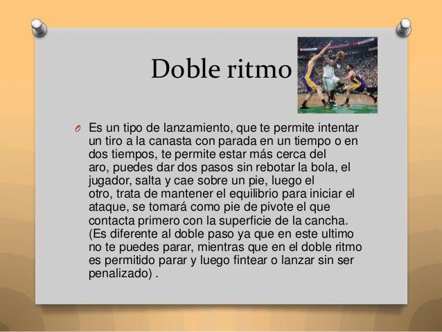 Tipos de doble ritmo en baloncesto