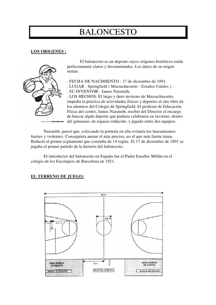 BALONCESTOLOS ORIGENES :                            El baloncesto es un deporte cuyos orígenes históricos están           ...