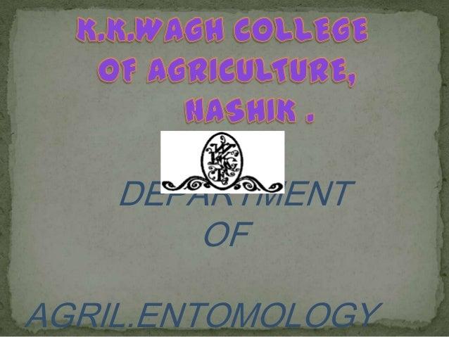 DEPARTMENT OF AGRIL.ENTOMOLOGY