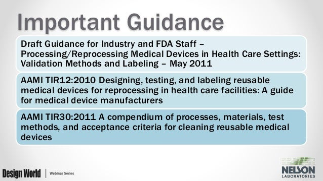 guidelines for reprocessing reusable equipment
