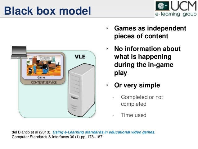 Black box model ‣ Games as independent pieces of content ‣ No information about what is happening during the in-game play ...