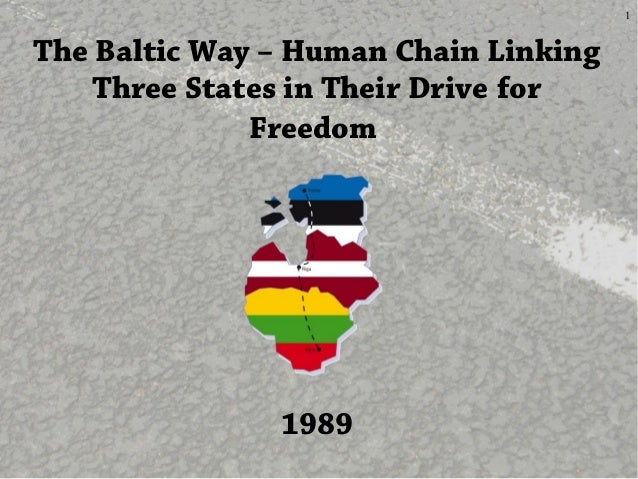 1The Baltic Way – Human Chain LinkingThree States in Their Drive forFreedom1989