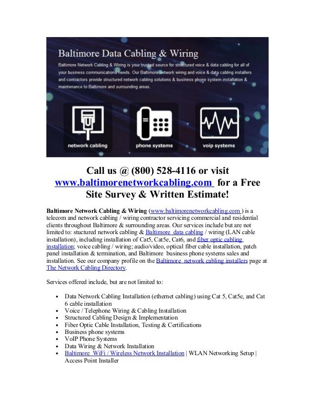 baltimore network cabling_fiber_optic_services LAN Network Wiring