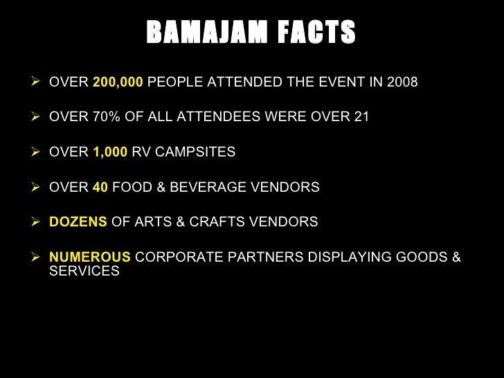 Bama Jam Music And Arts Festivaldiageo Sponsorship Proposal