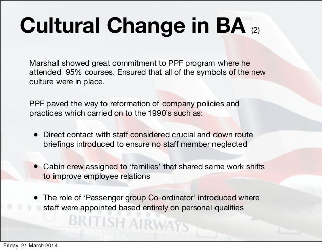 Organisational Culture Change in British Airways