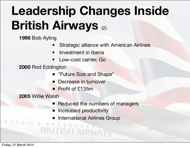 an introduction to the british airways British airways could potentially be seen as the most aggressive carrier in the   the move follows the introduction of a surcharge on any ticket.
