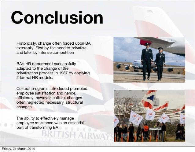 british airways restructuring