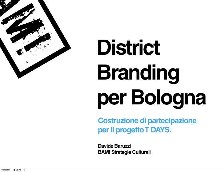 District                      Branding                      per Bologna                      Costruzione di partecipazione...
