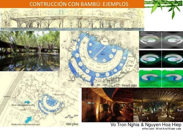 CONTRUCCIÓN CON BAMBÚ: EJEMPLOS Vo Tron Nghia & Nguyen Hoa Hiep wHw cafe– Wind And Water cafe