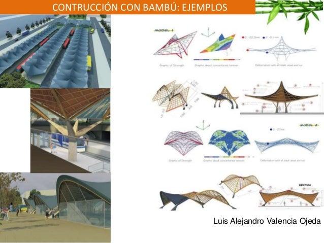 CONTRUCCIÓN CON BAMBÚ: EJEMPLOS Luis Alejandro Valencia Ojeda